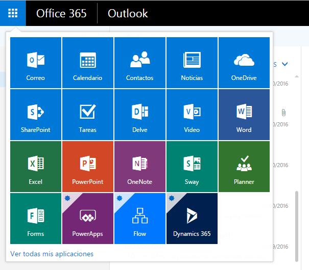 Aplicaciones Office365