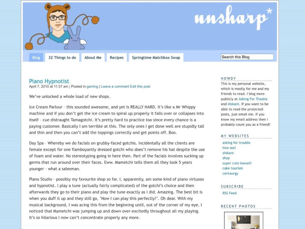 Ejemplo de blog