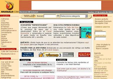 Portal web Navegalia