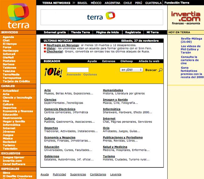 Portal web Terra